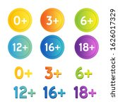age restriction icons set.... | Shutterstock .eps vector #1626017329