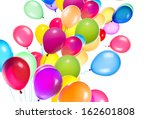 flying balloons isolated on a... | Shutterstock . vector #162601808