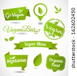 vegan and vegetarian food  set... | Shutterstock .eps vector #162602450