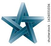 impossible pentagram icon....   Shutterstock .eps vector #1626031036