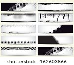 set of grunge banners    Shutterstock .eps vector #162603866