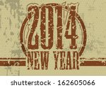 creative happy new year 2014... | Shutterstock .eps vector #162605066