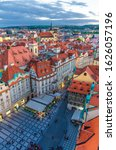 Top Vertical View Of Prague Old ...