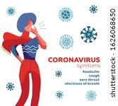 coronavirus symptoms  mers cov... | Shutterstock .eps vector #1626068650