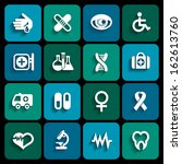 set of medical icons in white... | Shutterstock .eps vector #162613760