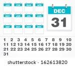 vector calendar number | Shutterstock .eps vector #162613820