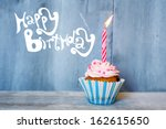 birthday greeting card with... | Shutterstock . vector #162615650