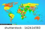 political map of the world ... | Shutterstock . vector #162616583