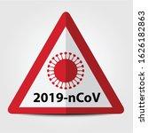 warning sign of 2019 ncov on...   Shutterstock .eps vector #1626182863