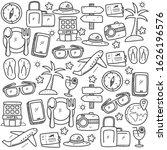 set of travel doodle elements... | Shutterstock .eps vector #1626196576