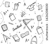 hand drawn set of college ... | Shutterstock .eps vector #1626208030