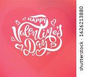 valentine s day card set   hand ... | Shutterstock .eps vector #1626213880