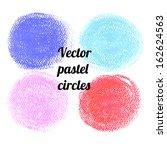 vector chalk  pastel  stains. | Shutterstock .eps vector #162624563