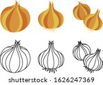 the cute icons of onion