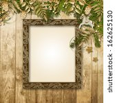 christmas background with a...   Shutterstock . vector #162625130