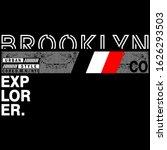brooklyn vector typography... | Shutterstock .eps vector #1626293503