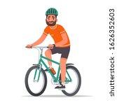 happy man dressed in sportswear ... | Shutterstock .eps vector #1626352603