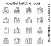 hospital building icon set in... | Shutterstock .eps vector #1626366853