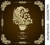vintage decorative template... | Shutterstock .eps vector #162636794