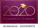 class of 2020 year graduation... | Shutterstock .eps vector #1626368476