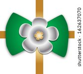 crossed golden ribbon with...   Shutterstock .eps vector #162637070