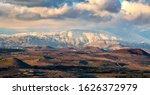 Snow On Hermon Mountain Sunset  ...
