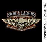 vector of skulls wings badge... | Shutterstock .eps vector #1626384703