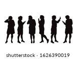 vector silhouette of obese...   Shutterstock .eps vector #1626390019
