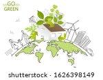 environmentally friendly world. ... | Shutterstock .eps vector #1626398149