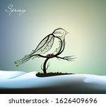 spring bird creative concept  ... | Shutterstock .eps vector #1626409696