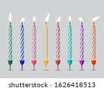 birthday cake candles with... | Shutterstock . vector #1626418513