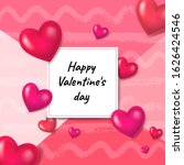 greeting card valentine's day...   Shutterstock .eps vector #1626424546