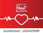 american heart month for...   Shutterstock .eps vector #1626425089