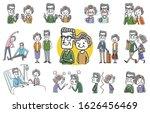 people set  senior couple ...   Shutterstock .eps vector #1626456469