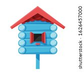 Birdhouse Vector Icon.cartoon...
