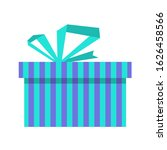 striped gift box with...