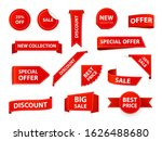 label tags. realistic price... | Shutterstock .eps vector #1626488680