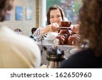 young female customer taking... | Shutterstock . vector #162650960