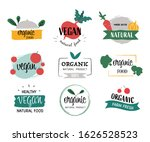 natural and organic label... | Shutterstock .eps vector #1626528523