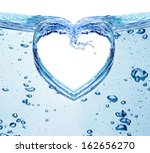 Heart From Water Splash...