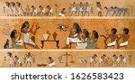 ancient egypt frescoes.... | Shutterstock .eps vector #1626583423