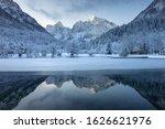 Lake Jasna In Winter Near...