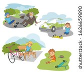accident with kids on road...   Shutterstock .eps vector #1626659890
