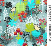 beautiful seamless pattern with ... | Shutterstock .eps vector #162667169
