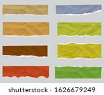 torn paper edge. ripped squared ...   Shutterstock .eps vector #1626679249