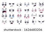 funny cartoon faces. face... | Shutterstock . vector #1626683206