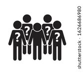 social anxiety icon. fear of... | Shutterstock .eps vector #1626686980