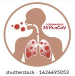 2019 ncov. illness respiratory... | Shutterstock .eps vector #1626695053