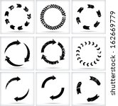 grunge circular arrows   | Shutterstock .eps vector #162669779