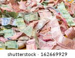 stacking of a banknote type of... | Shutterstock . vector #162669929